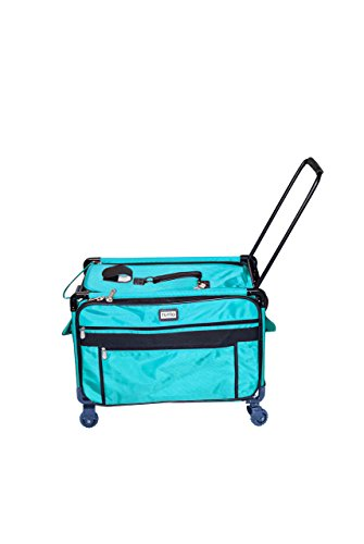 Machine Wheels Case Sewing (Tutto Monster Machine on Wheels Sewing Machine Case, 2XL Turquoise)