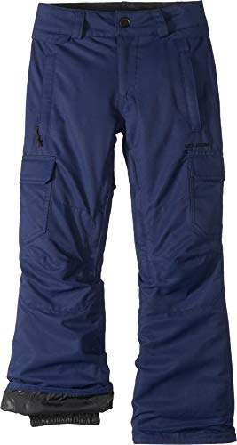 Volcom Boys' Big' Cargo Insulated 2 Layer Shell Snow Pant, Navy, Extra Large