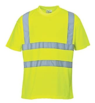 Portwest S478YERXXXL Hi-Vis T-Shirt Yellow Size 3X-Large Regular
