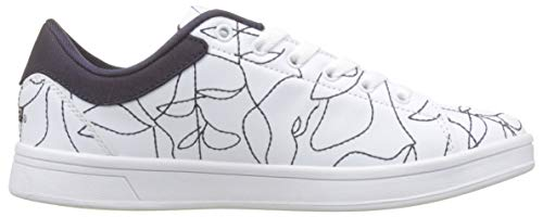 Art retro Sneakers Shoes Desigual Court Basses Blanc 1000 Femme amp;thread blanco twqHU