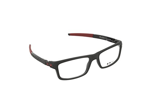 Oakley Glasses Satin black Currency Rectangle - Prescription Oakleys Sunglasses