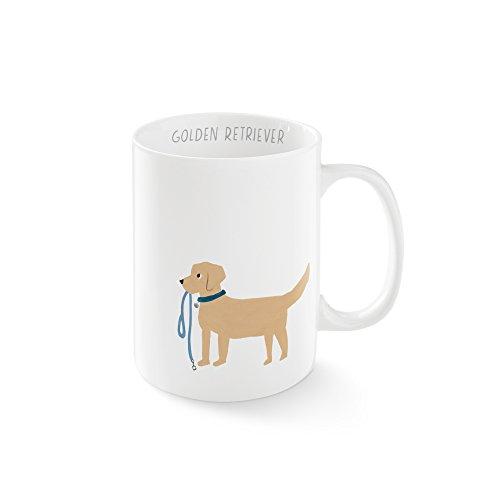 FRINGE STUDIO Happy Golden Mug, 12 liquid ounces (384094) ()