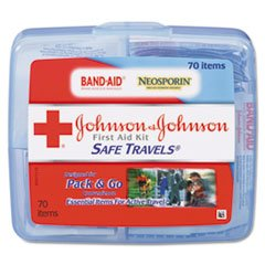 Johnson & Johnson Red Cross Portable Travel First Aid Kit by Everready First Aid