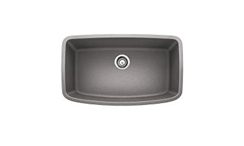 (Blanco 441775 Valea Super Single Bowl Sink, Metallic Gray)