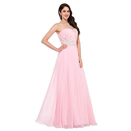 Rosso Sera colore In Con Sposa Us20 Da Damigella Cristallo D'onore Fengbingl Vestito Di Abito Dimensione Vestitino Rosa q7EIpxOx