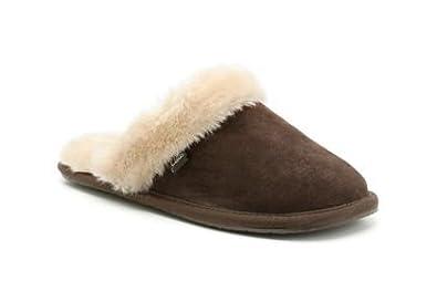 90956e6e8ca27 Clarks Wren Bird Slippers - Chocolate Suede - Womens Clarks Slippers ...