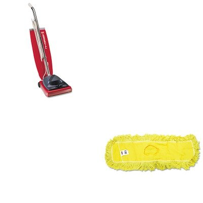 KITEUKSC684FRCPJ15300YEL - Value Kit - Rubbermaid-Dust Mop, Trapper, Looped, 24X5 (RCPJ15300YEL) and Commercial Vacuum Cleaner, 16quot; (EUKSC684F)