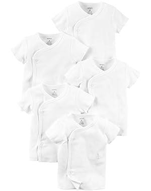 Carter's Unisex Baby Multi-Pack Bodysuits 126g389, White, 3 Months