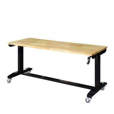 Husky 62 in. Adjustable Height Work Table
