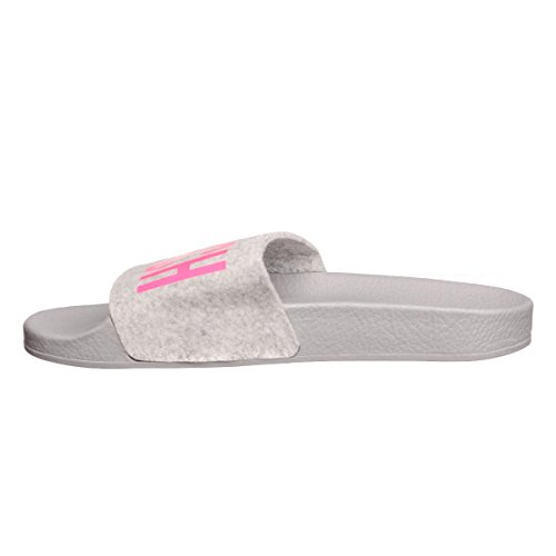 The White Brand - Zuecos de Fieltro para mujer gris gris