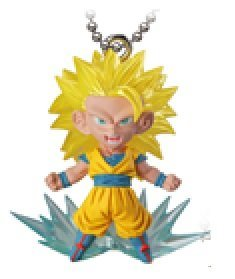 Dragon Ball Z~UDM The Best 6~Ultimate Deformed Mascot Swing Keychain~S.s 3 Son Goku~40mm