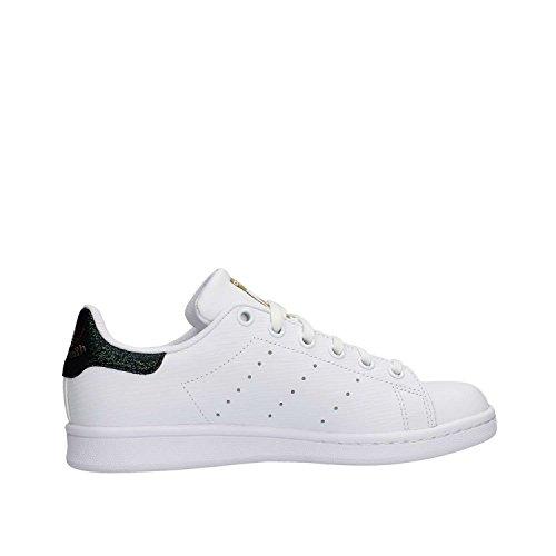 adidas Unisex-Kinder Stan Smith J Tennisschuhe Elfenbein (Ftwr White/ftwr White/gold Met.)