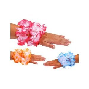 TWO TONE FLOWER LEI BRACELET (1 dozen) (Two Flower Tone Lei)