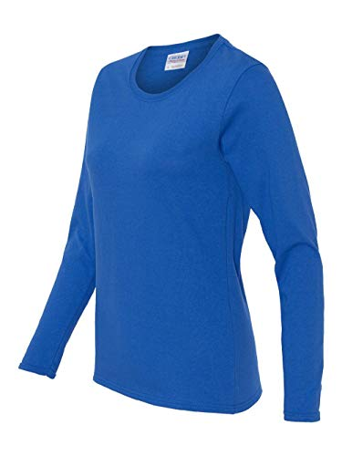 (Gildan - Heavy Cotton Women's Long Sleeve T-Shirt - 5400L - Royal - Large)