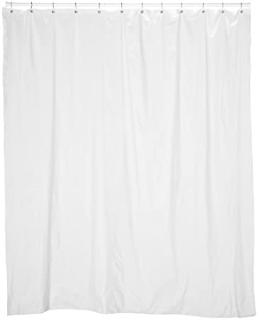 Carnation Home Fashions 72-Inch Wide by 78-Inch Long Vinyl Shower Curtain Liner, Bone SC-78L/15