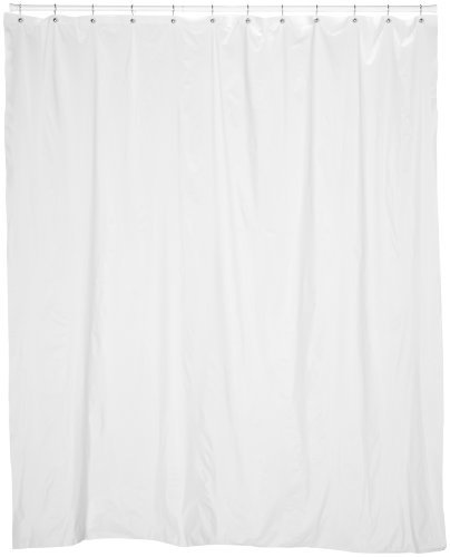 Carnation Home Fashions 72 Wide by 84-Inch Long Vinyl Shower Curtain Liner, White, Inch Inch