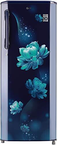 LG 270 L 3 Star Inverter Direct-Cool Single Door Refrigerator (GL-B281BBCX, Blue Charm, Moist 'N' Fresh)