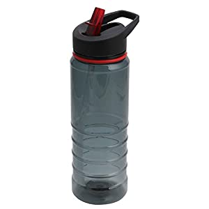 750ML Flip Straw Cycling Bicycle Camping Drink Hydration Water Bottle Sport Hot (Red)