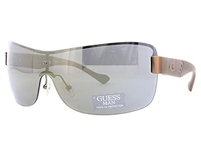 Guess 6821 Mens Shield Half-rim Gradient Lenses Sunglasses/Sun Glasses