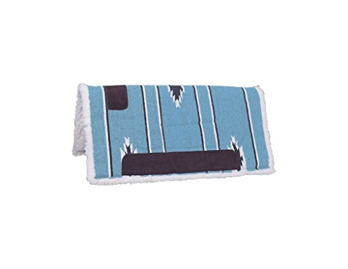 tough-1-tough-1-square-saddle-pad-fleece-bottom-teal-black-cream