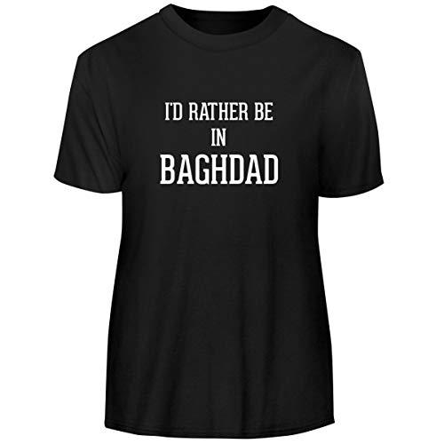 I'd Rather Be in Baghdad - Men's Funny Soft Adult Tee T-Shirt, Black, ()