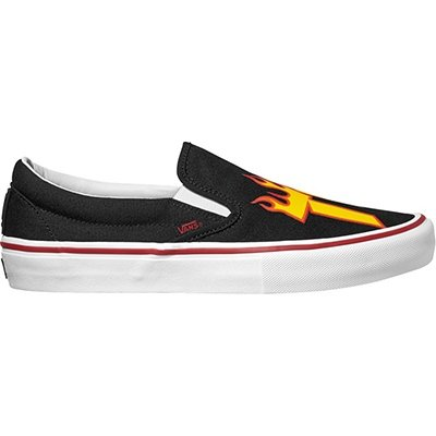 67e454290c1 Galleon - Vans X Thrasher Slip-On Pro (Thrasher Black) Mens Skate Shoes-10.5