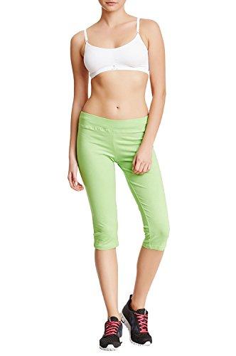 - Balanced Tech Women's Knitted Jersey Capri Pant - Jasmine Green - Large