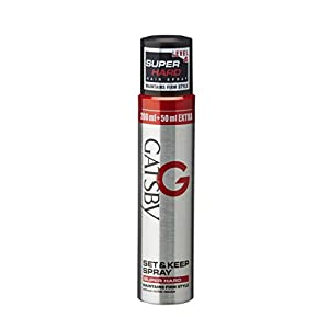 Gatsby Set and Keep Super Hard Hair Spray, 250ml (Pack of 2)