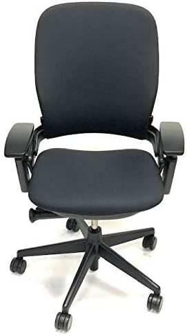 Steelcase Leap Black Fabric V2 Office Chair Renewed