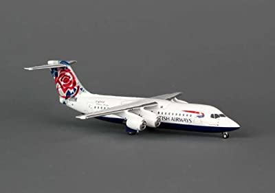 AVIATION200 1-200 Scale Model Aircraft AV2146009 AVIATION200 British Airways BAE146 1-200 Chelsea Rose G-BZAV by AVIATION200 1/200 Scale Model Aircraft