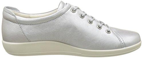 Ecco Soft 2.0, Zapatos de Cordones Derby para Mujer Silber (1708ALUSILVER)