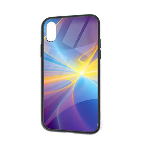 HengZhe iPhone Xs/X Case Colorful Rainbow TPU Ultra-Thin