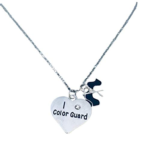 Color Guard Necklace, Color Guard Jewelry- Perfect Color Guard Gifts Teens and Girls