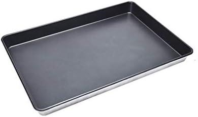 ノンスティックベーキングトレイ長方形家庭用トレイ商業オーブンピザケーキパントレイベーキングベーキングトレイ多目的耐久性と耐腐食性