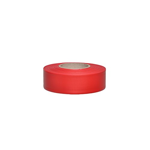 (Swanson RFTRD300 1-3/16-Inch by 300-Feet Taffeta Roll Flagging, Red)