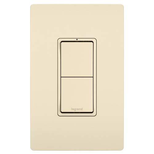 2 Switch, Single Pole in Light Almond