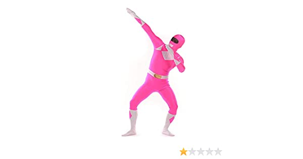 FYBR Rosa Power Ranger SuperSkin Disfraz - Adulto Unisex Hombres ...