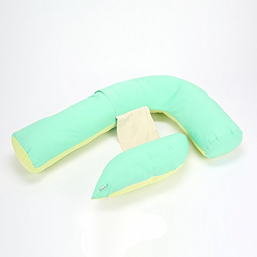 F-type pregnant women pillow / pregnant women pillow / multi-functional pregnant women pillow / waist sleeping pillow / ( Color : Yellow green ) by Pregnant women pillow