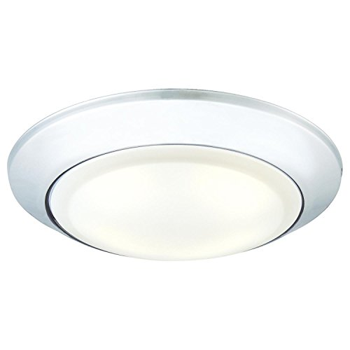 - Westinghouse Lighting 6323000 Large LED Indoor/Outdoor Dimmable Surface Mount Wet Location, Chrome Finish with Frosted Lens,