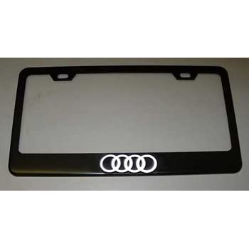 Amazon.com: Audi License Plate Frame with Logo Chrome: Automotive