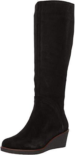 Aerosoles Women's Binocular Knee High Boot, Black Suede, 9 M US