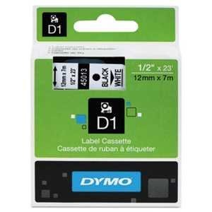 Ink Label Dymo Cartridge - DYMO 45013 D1 Tape Cartridge for Dymo Label Makers, Created Specifically for Your LabelManager and LabelWriter Duo Label Makers, 1/2-inch x 23 Feet, Black on White, Pack of 4