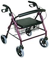 Kera: andador plegable con 4ruedas, asiento amplio