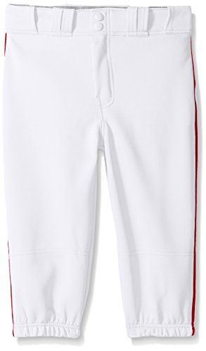Easton Boys PRO Plus Piped Knicker, White/Red, Medium ()