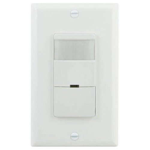 GE UltraPro in-Wall Motion Sensing Switch with Occupancy and Vacancy Options, Single Pole, Automatic/Manual Controls, 150 Degree 30ft. Detection Zone, Custom Timer, Indoor, 11927, White