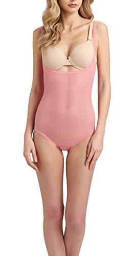 Wolford Tulle Forming String Body Suit Shape & Control Light 79042 (38, Sugar Coral 3037)