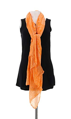 Liz Claiborne NY Double Sided Printed Scarf Orange NEW A252371