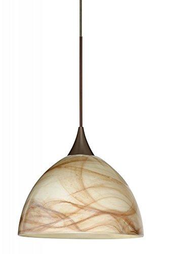 - Besa Lighting-Besa Brella Pendant 1XP Mocha Bronze 1x50W GY6.35-1XP-467983-BR