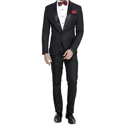 312HlgYz0QL. SS500  - MANQ Men's Slim Fit Tuxedo Suit (Pack of 2)