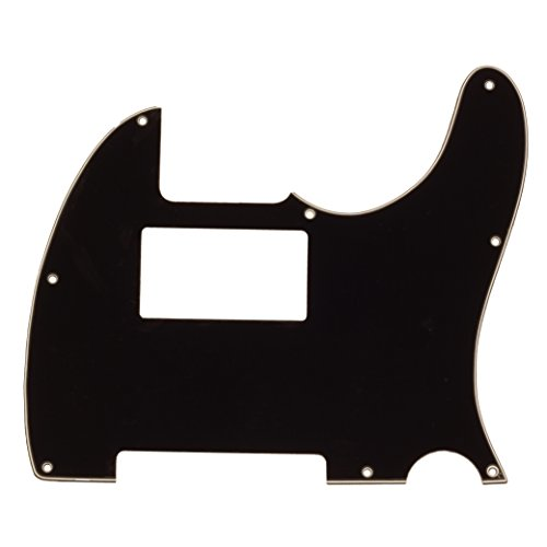 Tele Style Pickguard (Seismic Audio SAGA36 Black Replacement 3 Ply Humbucker Pickguard for Standard Tele Style Guitar)